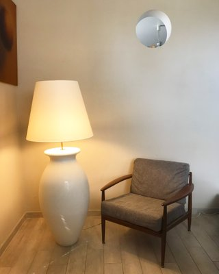 Vintage Floor Lamp by Jacques Molin for Faïencerie de Charolles for ...
