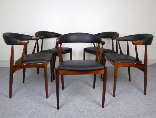 Chaises De Salle A Manger Par Johannes Andersen Pour Samcon 1960s Set De 5