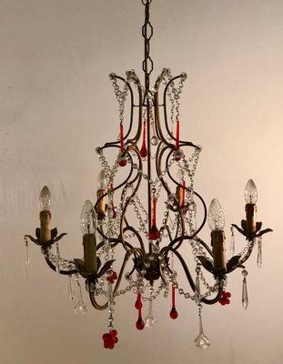 Lampes À MuranoSet 2 Vintage Cristal De En Suspension c5S4ARq3jL