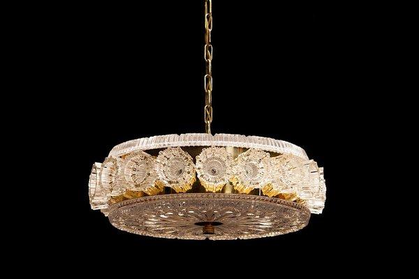 Lampada da soffitto vintage di carl fagerlund per orrefors svezia