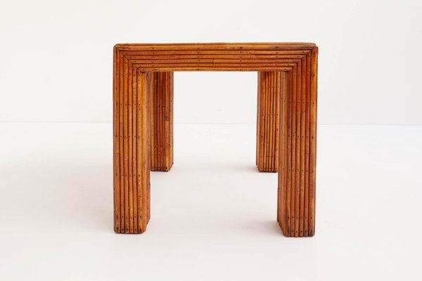 Italian Bamboo Coffee Table 1960s