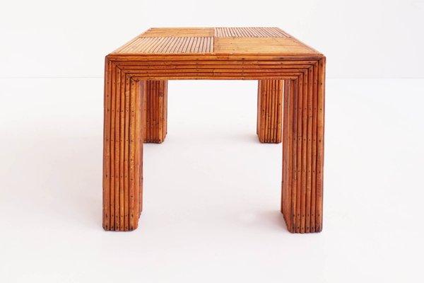 Italian Bamboo Coffee Table, 1960s 1