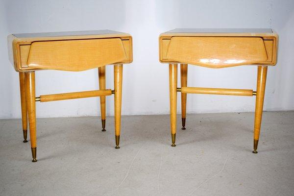 Mobili Anni 50 : Comodini in acero di la permanente mobili cantù anni 50 set di 2