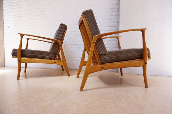 Lounge Chairs By Ib Kofod Larsen For Selig, 1960s, Set Of 2 2