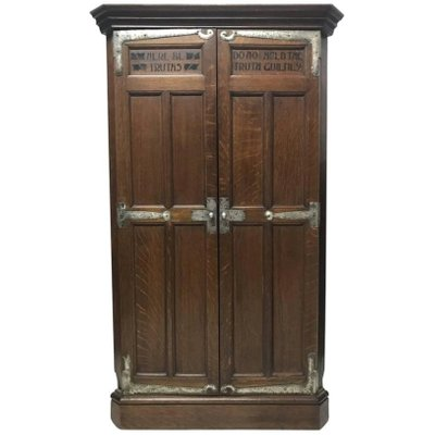 Antique Arts & Crafts Oak Corner Cupboard from Liberty ... - Antique Arts & Crafts Oak Corner Cupboard From Liberty & Co For Sale