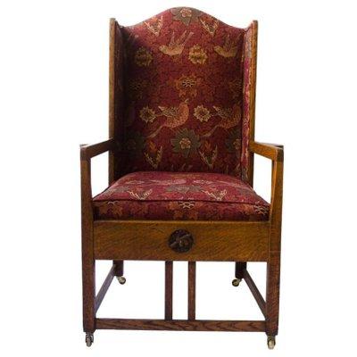 fauteuil bergre antique en chne 1 - Fauteuil Bergere