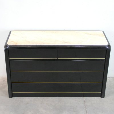 Black Dresser With Marble Top 1970s For Sale At Pamono