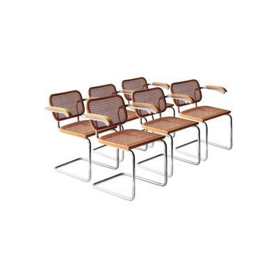 Model B64 Cesca Chairs By Marcel Breuer For Gavina, 1962, Set Of 6 1