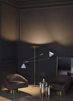 Torchiere Floor Lamp From Covet Paris For Sale At Pamono