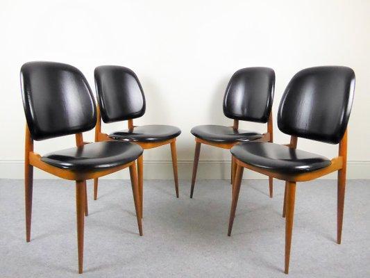 Chaises De Salle A Manger Pegase Par Pierre Guariche Pour Baumann 1960s Set De 4