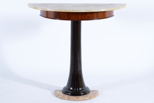 Mid Century Italian Wood U0026 Marble Console Table From Dassi, ...