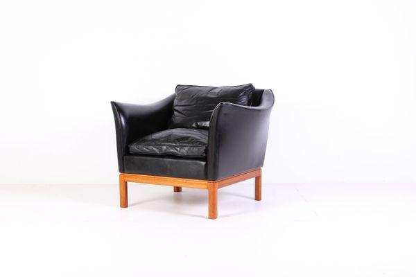 Stupendous Mid Century Danish Leather Sofa Lounge Chair Inzonedesignstudio Interior Chair Design Inzonedesignstudiocom