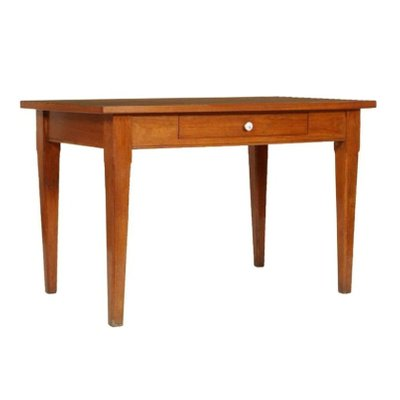 Vintage Solid Oak Kitchen Table With Formica Top 1940s For Sale At