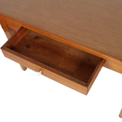 Tavolo da cucina vintage in legno di quercia massicio con ripiano in  formica, anni \'40