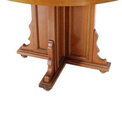 Tavolo rotondo allungabile in legno di noce e impiallacciato, Italia ...