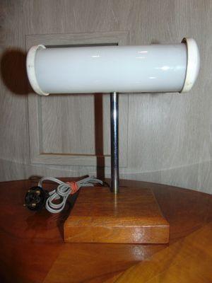 Lampada da tavolo in bachelite, legno e vetro, anni \'60 in vendita ...