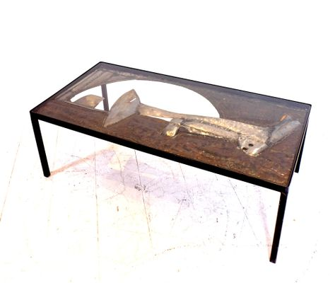 Sculptural Wrought Iron Coffee Table By John Farnham, 1964 7