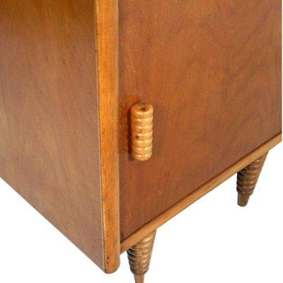 Art Deco Italian Walnut Nightstand By Gio Ponti For La Permanente