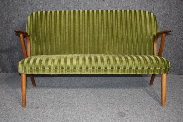 Wondrous Danish Mid Century Modern 2 Seater Green Teak Sofa 1960S Caraccident5 Cool Chair Designs And Ideas Caraccident5Info