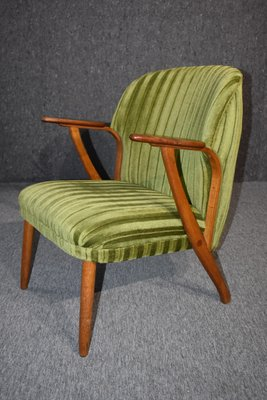 Danish Mid Century Modern Green Teak Lounge Chair 1960s For Sale At