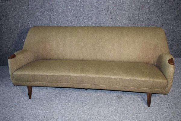 Bon Mid Century Modern Danish Sofa In Green Wool And Teak, 1960s 1