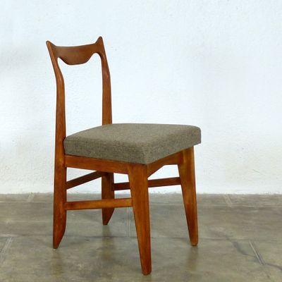 Vintage Oak Chairs By Guillerme Et Chambron, Set Of 4 4
