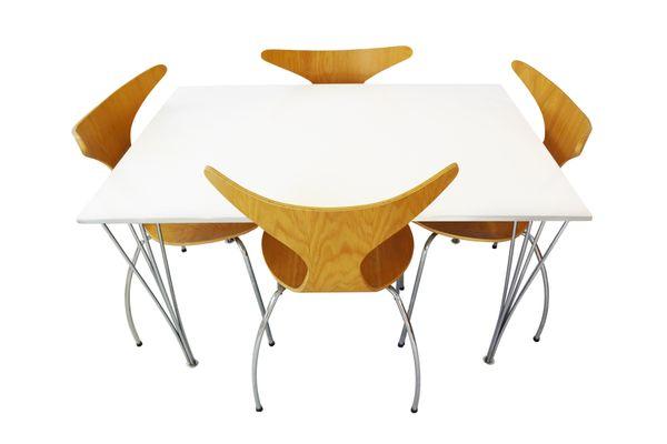 Mesa de comedor vintage de Piet Hein, Arne Jacobsen & Bruno Mathsson ...