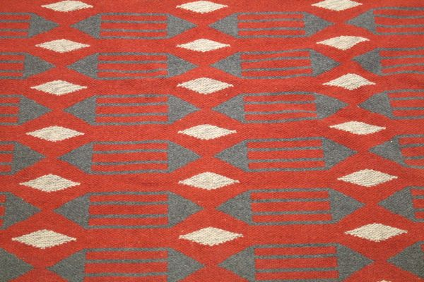 Swedish Double Woven Carpet With Geometric Patterns 60s For Sale Cool 1950s Patterns
