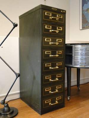 Vintage Industrial 8 Drawer Filing Cabinet From Strafor 1