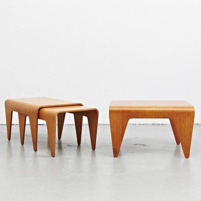 Beech plywood nesting tables by marcel breuer for isokon 1930s for beech plywood nesting tables by marcel breuer for isokon 1930s 10 watchthetrailerfo