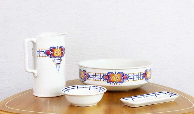 Set da bagno mid century di sarreguemines in vendita su pamono