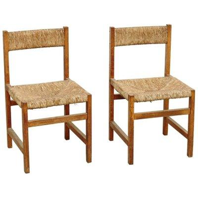 Spanish Rattan Chairs, 1950s, Set Of 2 1