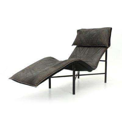 Chaise Longue Skye En Cuir Par Tord Bjorklund Pour Ikea 1970s
