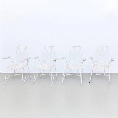 Chaises de Jardin Vintage par Mathieu Matégot, France, Set de 4 en ...
