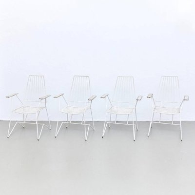 Vintage French Garden Chairs By Mathieu Mategot Set Of 4 For Sale