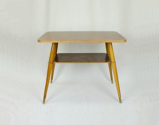 Walnut Side Table, 1950s 1
