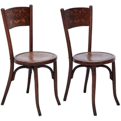 Antique Bentwood Chairs from Codina, 1900s, Set of 2 2 - Antique Bentwood Chairs From Codina, 1900s, Set Of 2 For Sale At Pamono