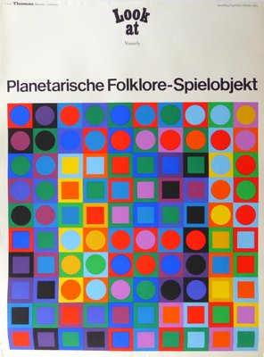 Par Pour München1969 D'exposition Galerie Victor Thomas Affiche Vasarely nwv8m0N