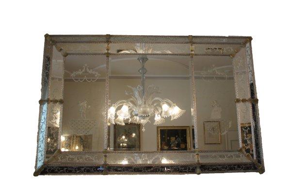 Art Deco Spiegel : Italienischer art deco murano glas spiegel er bei pamono kaufen