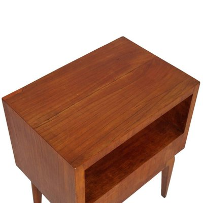 . Mid Century Modern Cherry Wood Bedside Table