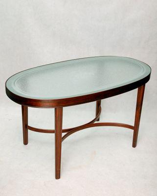 Tavolo Con Ripiano In Vetro.Tavolino Da Ca Caffe In Faggio Con Ripiano In Vetro Danimarca Anni