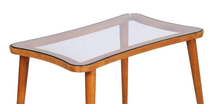 Mid Century Modern Coffee Table With Glass Top For Sale At Pamono
