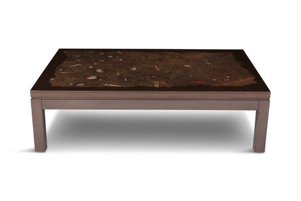 Groovy Vintage Belgian Coffee Table With Fossil Inlay By Etienne Allemeersch Spiritservingveterans Wood Chair Design Ideas Spiritservingveteransorg