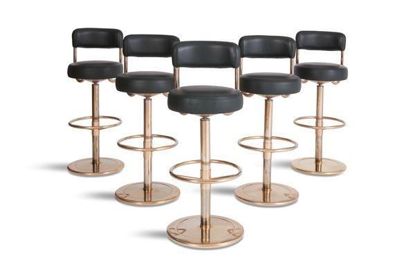 St sedile in pelle rivestita in ottone oro rosa in acciaio inox