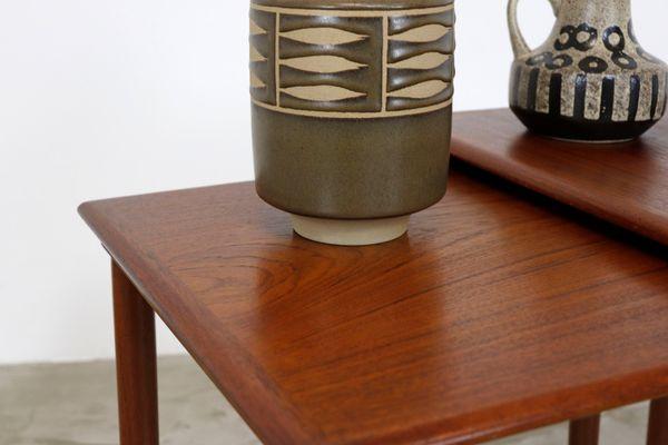 Tables Gigognes Modernes Vintage En Teck Avec Pieds En Filigrane