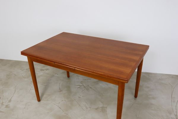 Danish Teak Extendable Modern Dining Table, 1960s for sale at Pamono