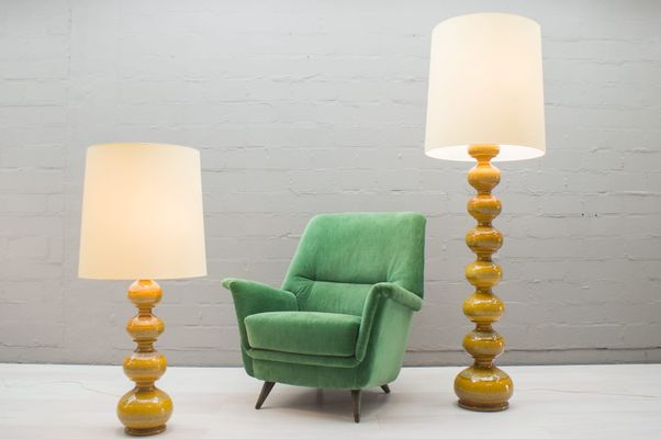 Ceramic Floor Lamps From Kaiser Leuchten 1960s Set Of 2 For Sale
