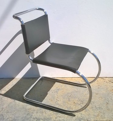 Cool Mr10 Chair By Mies Van Der Rohe For Knoll 1980S Creativecarmelina Interior Chair Design Creativecarmelinacom