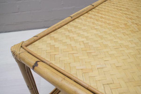 Large Bamboo Rattan Coffee Table