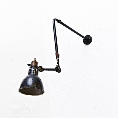 Vintage Wall Lamp by Bernard-Albin Gras for Gras Ravel, 1930s for ...